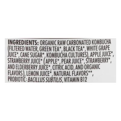 Humm Kombucha, Strawberry Lemonade