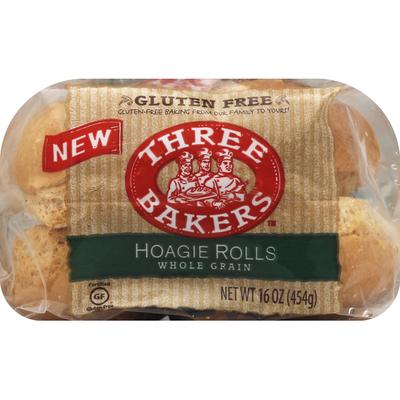 Three Bakers Hoagie Rolls, Whole Grain