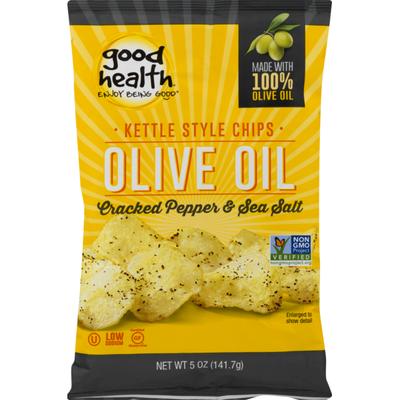 Good Health Olive Oil Kettle Style Chips Cracked Pepper & Sea Salt
