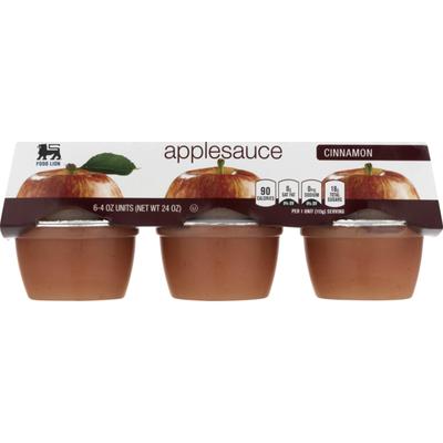Food Lion Applesauce, Cinnamon, Sleeve