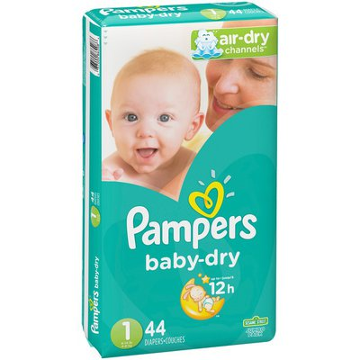 Pampers Baby Dry Diapers Size 1