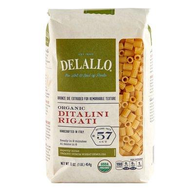 DeLallo Organic Ditalini Rigati #57