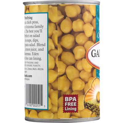 Eden Foods Organic Garbanzo Beans, No Salt Added