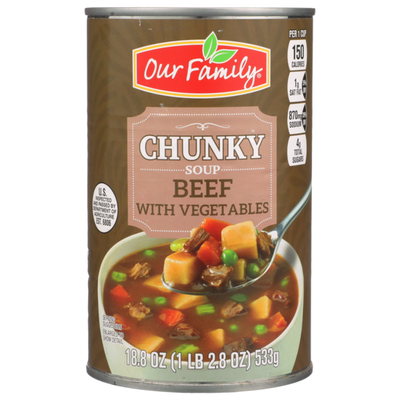 Our Family Beef With Vegetables Chunky Soup