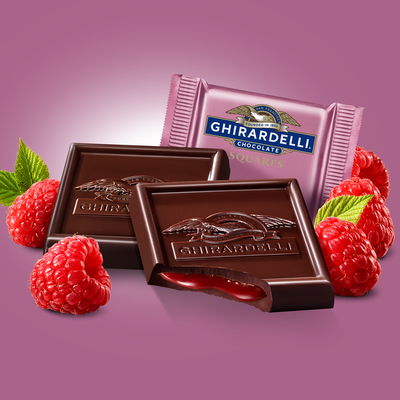 Ghirardelli Dark Chocolate Raspberry Squares