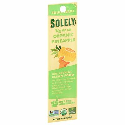 Solely Fruit Jerky, Organic, Pineapple