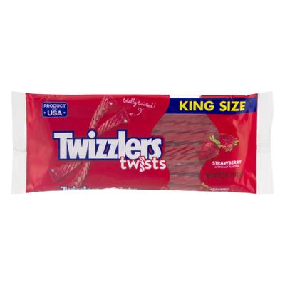 Twizzlers Candy, Strawberry, Twists, King Size