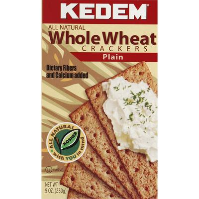 Kedem Crackers, Whole Wheat, Plain
