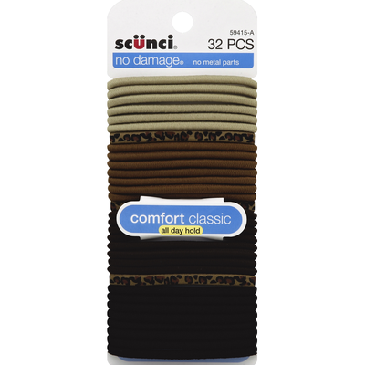 Scunci Ponytail Holders, Comfort Classic