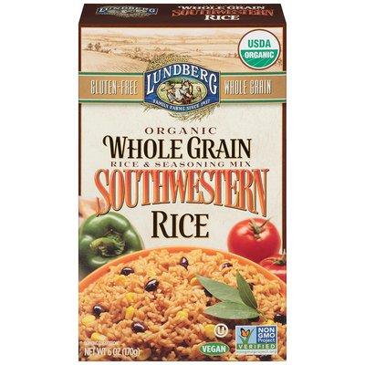 Lundberg Family Farms Organic Whole Grain Southwestern Rice Rice & Seasoning Mix