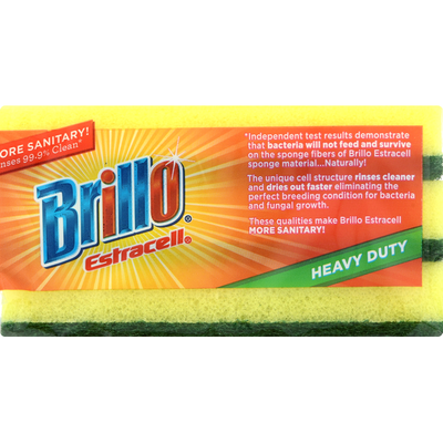 Brillo Scrub Sponge, Heavy Duty, 3 Pack
