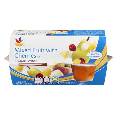 SB Mixed Fruit with Cherries in Light Syrup - 4 CT