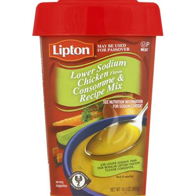 Lipton Soup Mix, Consomme & Recipe, Chicken Flavor, Lower Sodium