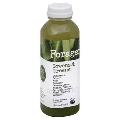 Forager Juice Blend, Organic Vegetable, Greens & Greens