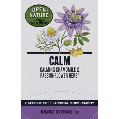 Signature Select Herbal Tea, Calm, Caffeine-Free, Tea Bags