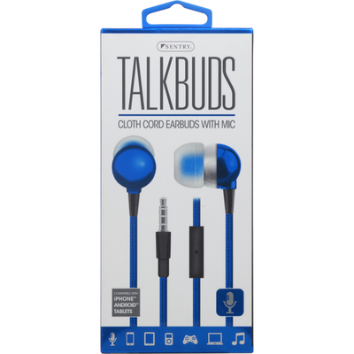 Sentry Pro Earbuds with Mic, Cloth Cord