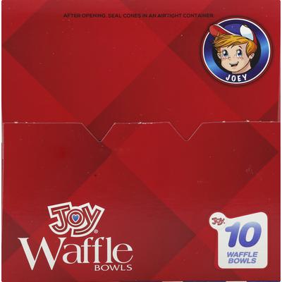 Joy Waffle Bowls