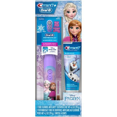 Oral-B Holiday Gift Pack with Battery Toothbrush and Toothpaste Featuring Disney's Frozen Crest & Oral-B Kids Holiday Gift Pack with Battery Toothbrush and Toothpaste