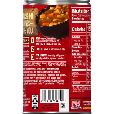 Campbell's® Chunky® Sirloin Steak & Hearty Vegetables Soup