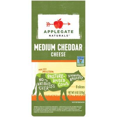 Applegate Medium Cheddar Cheese Slices