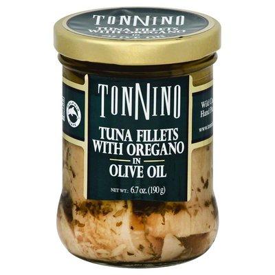 Tonnino Tuna Fillets, with Oregano in Olive Oil, Jar