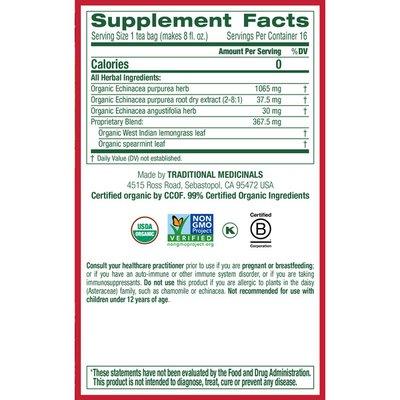 Traditional Medicinals Seasonal Teas Organic Echinacea Plus, Caffeine Free Herbal Tea