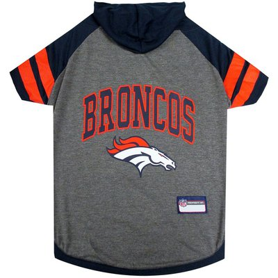Pets First Extra Small Denver Broncos Hoodie T-Shirt