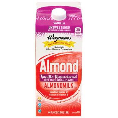 Wegmans Almondmilk, Vanilla Unsweetened