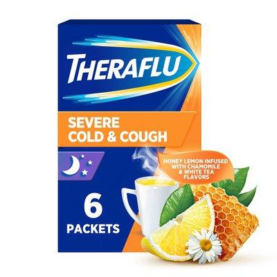 Theraflu Nighttime Severe Cold and Cough Hot Liquid Powder, Nighttime Severe Cold and Cough Hot Liquid Powder