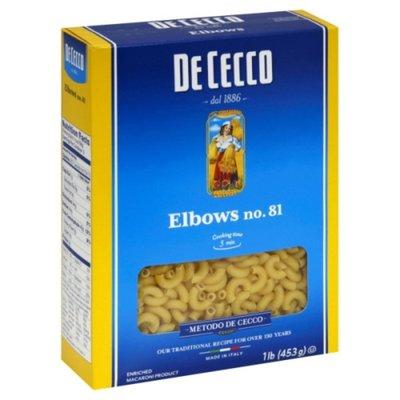 De Cecco Elbows, No. 81