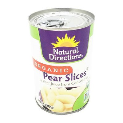 Natural Directions Organic Pear Slices in Pear Juice