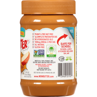 Wowbutter Toasted Soybutter, Peanut Free, Creamy