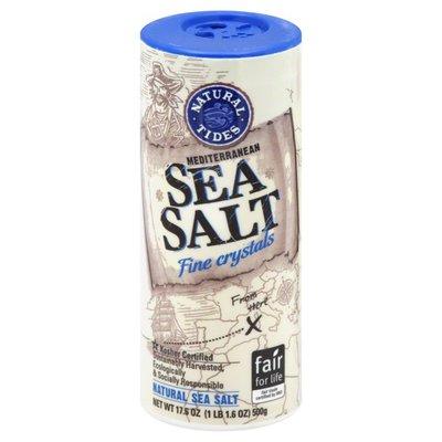 Natural Tides Sea Salt, Mediterranean, Fine Crystals