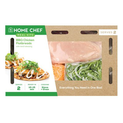 Home Chef Meal Kit Bbq Chicken Mini-Flatbreads With Ranch Dressing