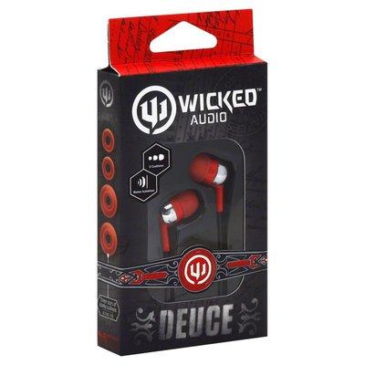 Wicked Earbuds, Deuce, Red