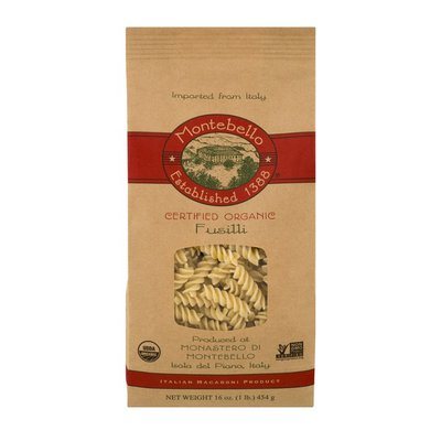 Montebello Fusilli, Certified Organic