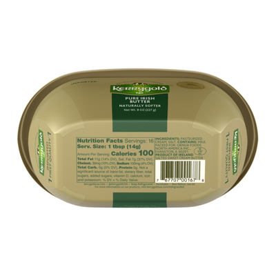 Kerrygold Grass-Fed Pure Irish Salted Softer Butter Tub,