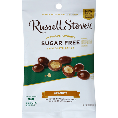 Russell Stover Chocolate Candy, Sugar Free, Peanuts