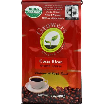 Growers Coffee, Ground, Medium to Dark Roast, Costa Rican