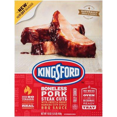 Kingsford Boneless Pork Steak Cuts with Sweet & Smoky Kansas City Style
