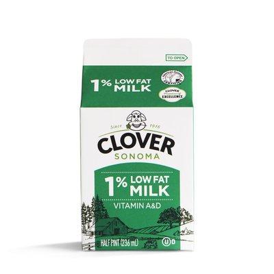 Clover Sonoma Conventional Lowfat 1% Milk Half Pint