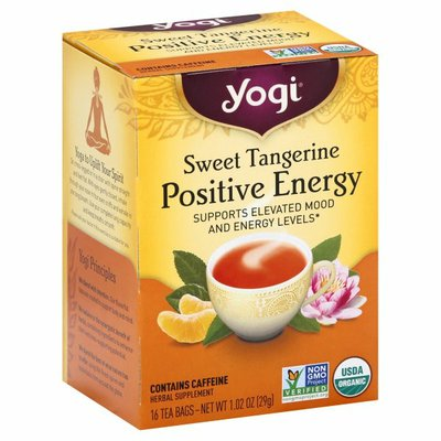 Yogi Tea Black Tea, Sweet Tangerine Positive Energy Tea, Supports Elevated Mood and Energy Levels