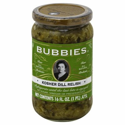 Bubbies Dill Relish, Kosher