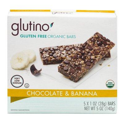 Glutino Gluten Free Organic Bars Chocolate & Banana