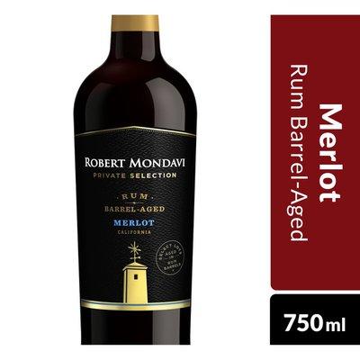 Robert Mondavi Private Selection Rum Barrel Aged Merlot Red Wine