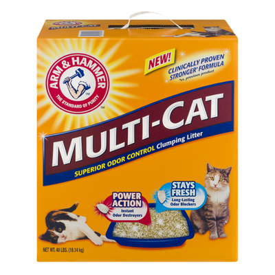 Arm & Hammer Multi-Cat Superior Odor Control Clumping Cat Litter