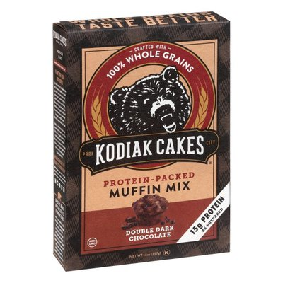 Kodiak Cakes Power Bake Protein Packed Muffin Mix Double Dark Chocolate
