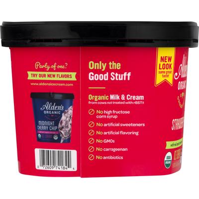 Alden's Organic Ice Cream, Strawberry