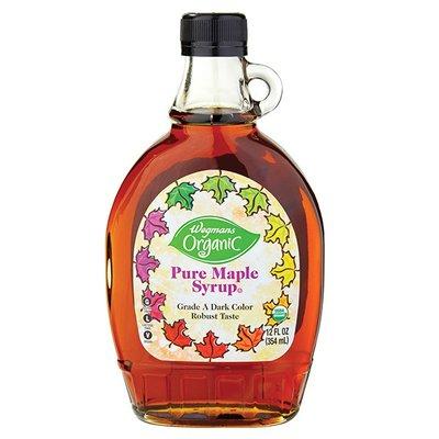 Wegmans Organic Pure Maple Syrup, Dark Color