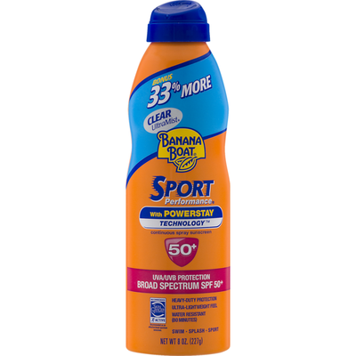 Banana Boat Sport Performance With Powerstay Continuous Spray Sunscreen Broad Spectrum SPF 50